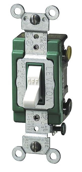 Leviton 3032 2w 30 amp 120277 volt toggle double pole ac quiet leviton 3032 2w 30 amp 120277 volt toggle double pole sciox Gallery