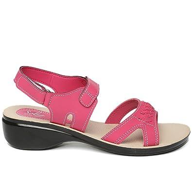 7615b62c9 PARAGON SOLEA Women s Pink Sandals  Buy Online at Low Prices in ...