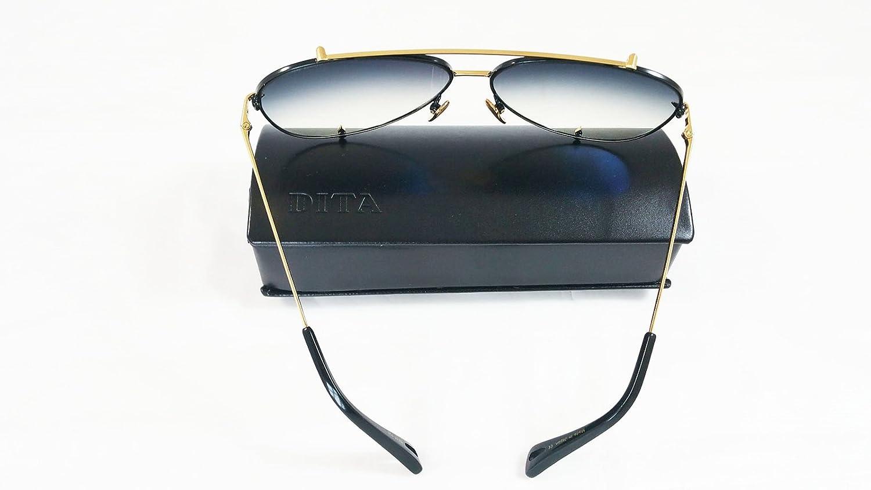 50b578b5b553 Dita Talon Aviator Sunglasses 23007 in Gold and Black frame with Grey Lens   Amazon.co.uk  Clothing
