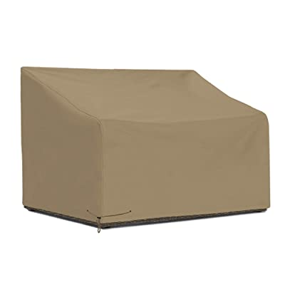 SunPatio Outdoor Loveseat Cover 60 Inch, Heavy Duty Waterproof Deep Seat Sofa Cover with Sealed Seam, Patio Furniture Cover, FadeStop Material, All Weather Protection, Taupe: Kitchen & Dining