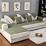 OstepDecor Multi-size Rectangular Quilted Furniture Protector and Slipcover for Pets, Kids, Dogs - Sofa, Loveseat, Recliner and Chair | Blackish Green 43''W x 63''L (110 x 160cm)