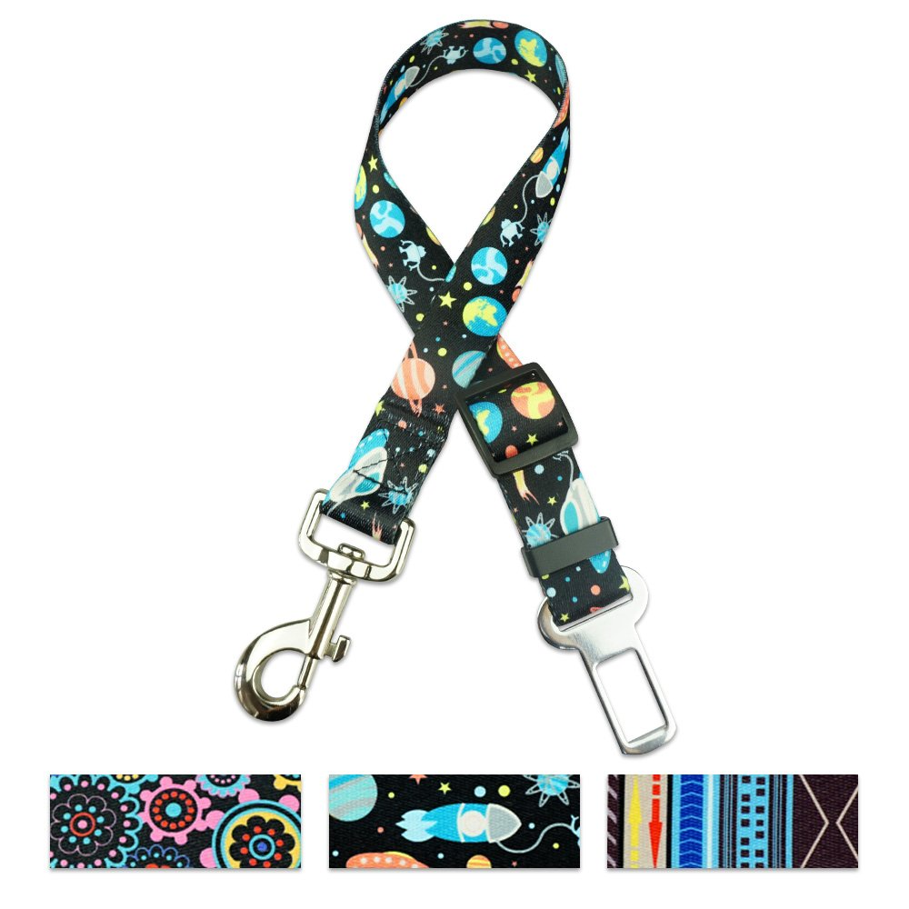 ihoming Pet Durable Car Seat Belt Adjustable from 16 to 24 Inches Fit Small Dogs, 1 Inch Width Safety Vehicle Pet Leash