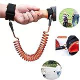 Yohoo Kids Safety Leash Anti-Lost Wrist Link Harness Strap Green Safety Wristband 1.5M/2.5M for Baby,Children, Child Rope Leash Walking Hand Belt (1.5M, Orange)