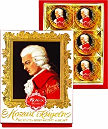 Reber Mozart Kugeln 6 Piece Portrait Box, 4.2 Ounce