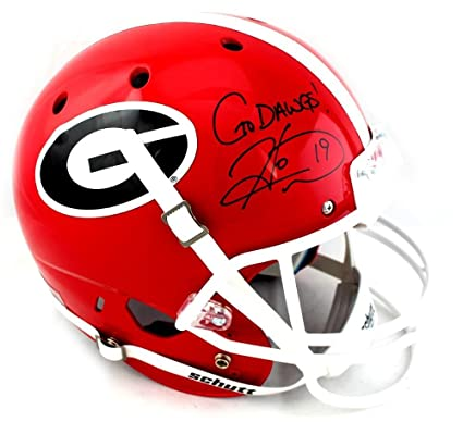 3f94db6f9 Image Unavailable. Image not available for. Color  Hines Ward Signed  Georgia Bulldogs Schutt Full Size NCAA Helmet With quot Go ...