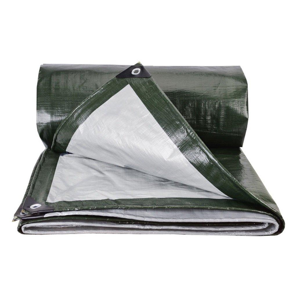 LAXF-Telone Tarpaulin Heavy Duty per Campeggio Pesca Giardinaggio, Spessore 0,38 mm, 180 g m² - 100% Impermeabile e UV protetto, 19 Dimensioni Disponibili, verde (Dimensioni   6m×8m)