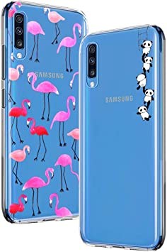 Yoowei [2-Pack] Funda para Samsung Galaxy A70, Transparente con ...