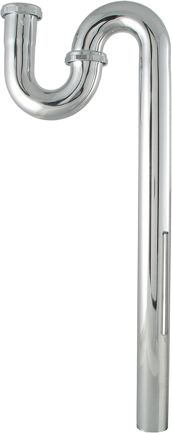 LDR 505 6041 1-1//2-Inch Kitchen P-Trap Chrome Plated Brass