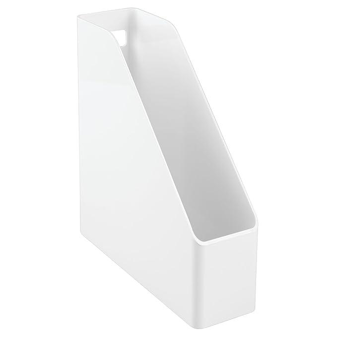 mDesign Set de archivador de plástico - 4 unidades - El perfecto organizador de papeles para periódicos, revistas, papeles y demás - Revistero de plástico: ...