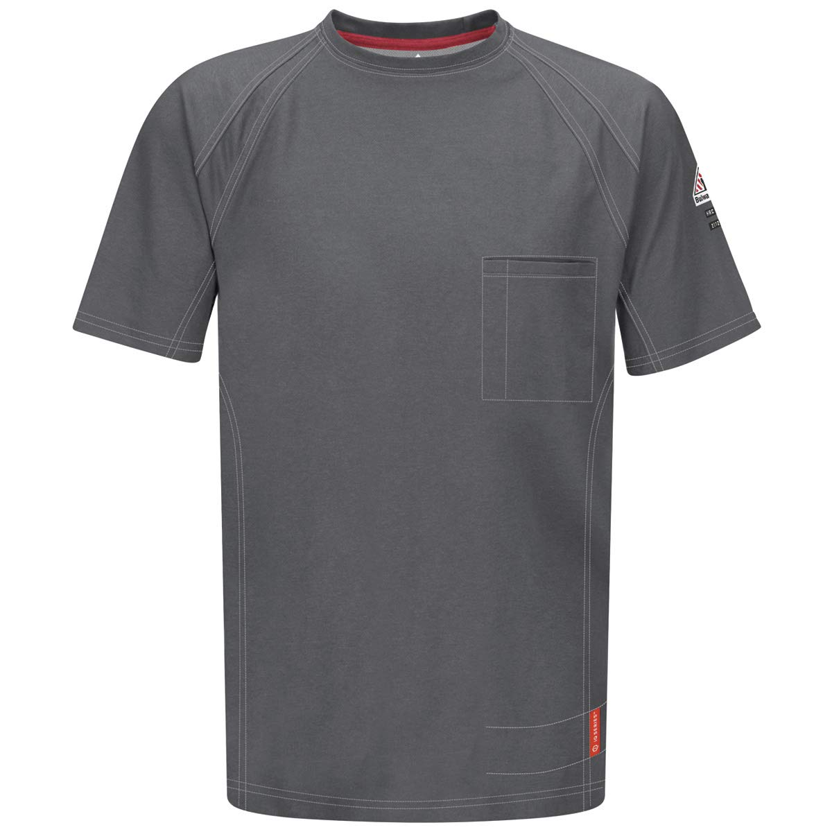 Bulwark 2X Charcoal 5.3 Ounce Westex G2 Cotton Polyester IQ Series Comfort Knit Flame Resistant Short Sleeve T-Shirt