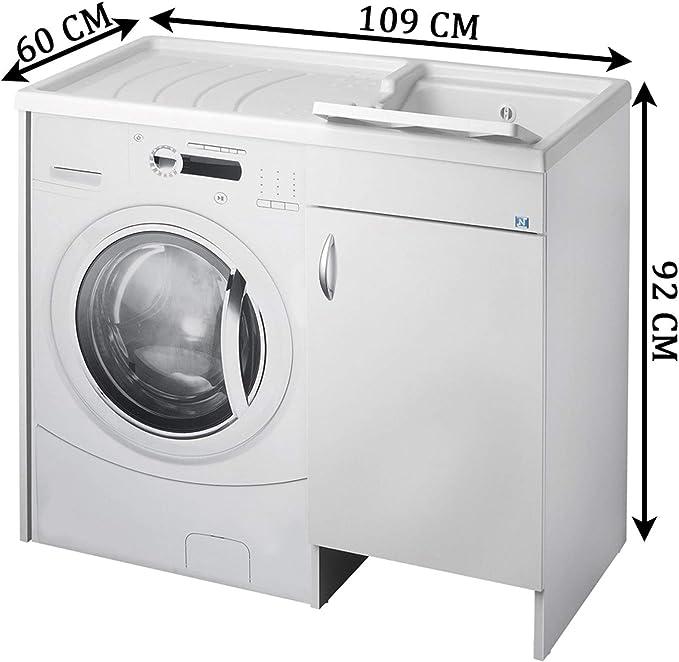 lavado CUBIERTA DE MAQUINA negrari Eco montado bañera para ...