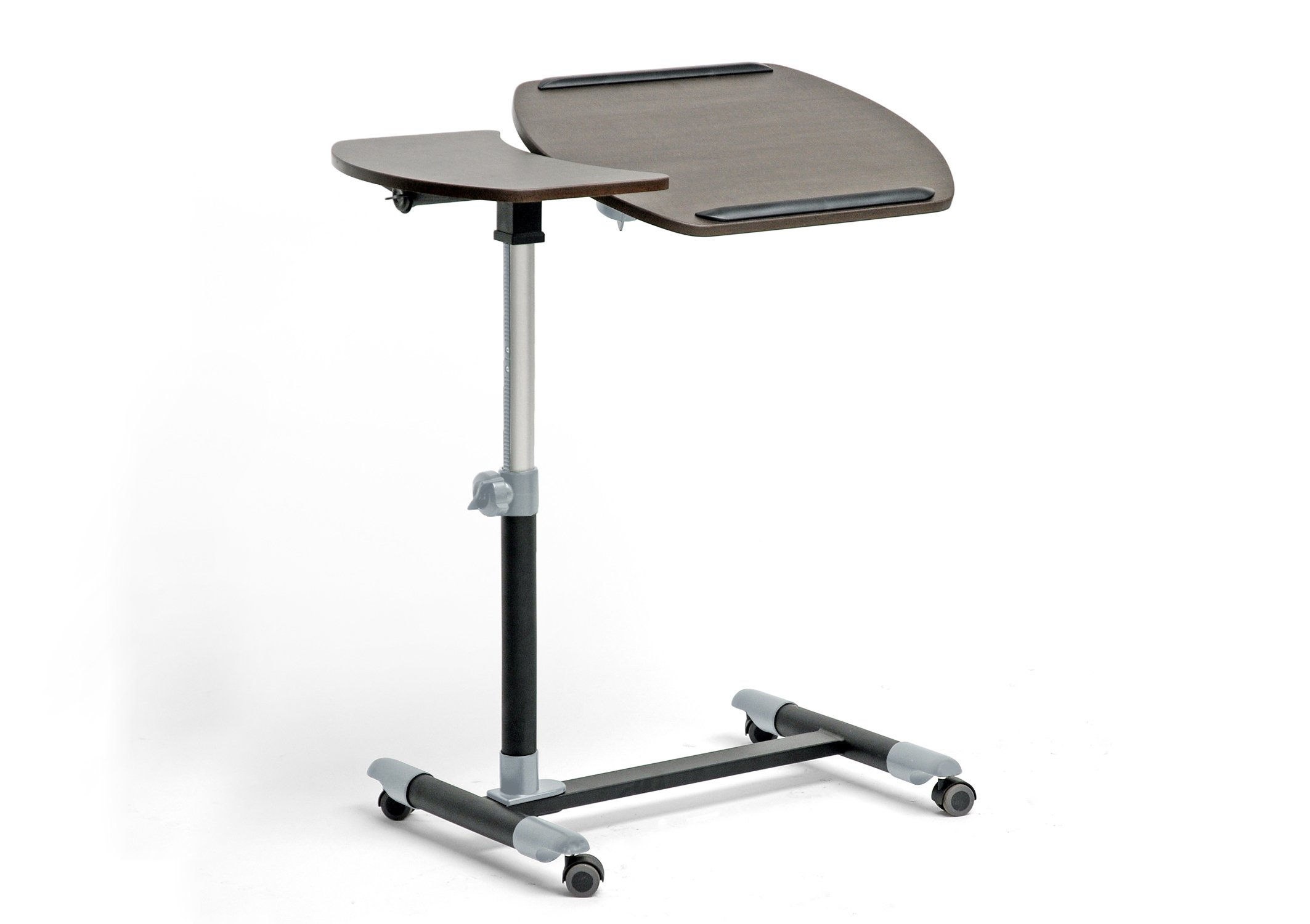 Baxton Studio Wheeled Laptop Tray Table with Tilt Control, Olsen Brown