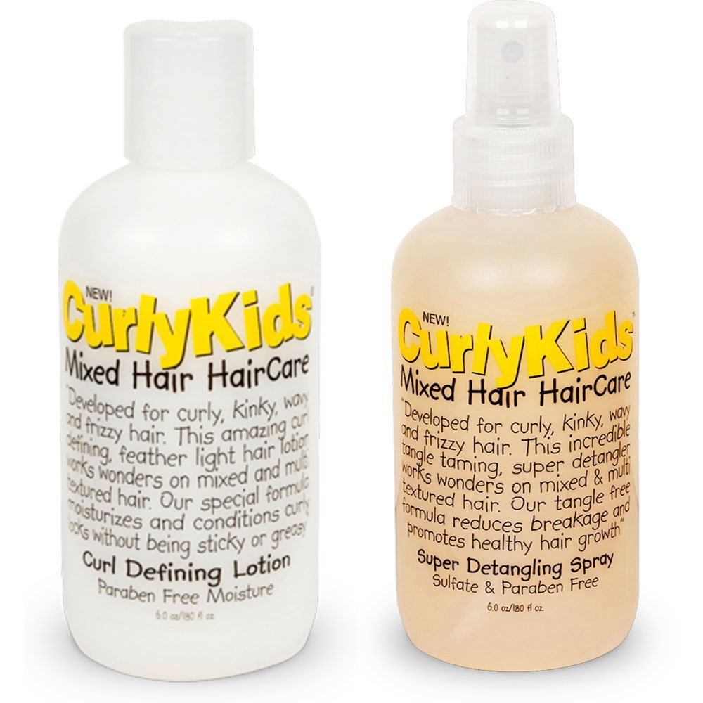 Curlykids Curl Defining Lotion & Super Detangling Spray Combo Set