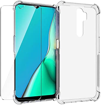 HYMY Funda para OPPO A5 (2020) Smartphone + 1 x Cristal Templado ...