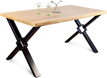 Tavolo Da Pranzo In Legno Massello Di Rovere Europeo Stile Industriale Loft Moderno Per Salotto Ufficio