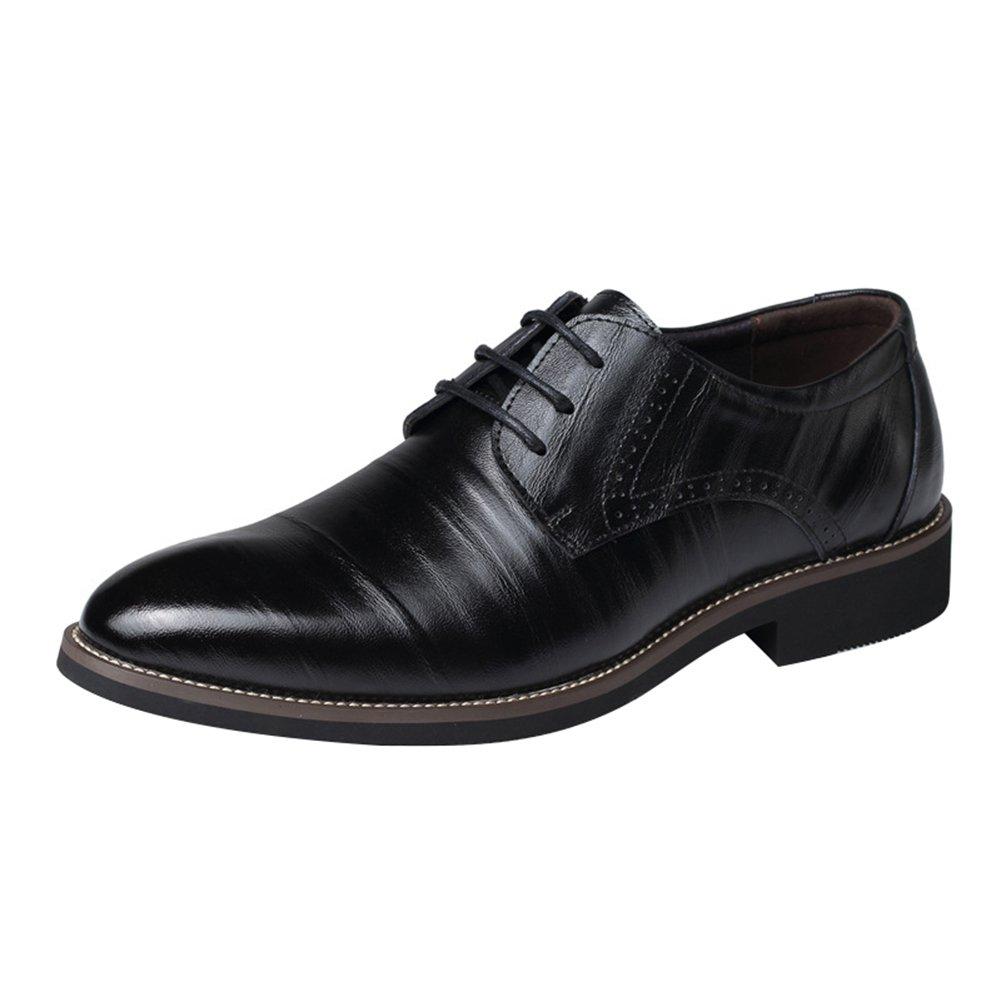 Hombre Derby Zapatos con Cordones Formal Zapatos Negocio Low-Top Zapatos Faux Cuero Zapatos Kootk T180327MS2-K