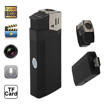 tangmi HD 1080P mecheros Spy Camera Cámara oculta de Recorder Videocámara DVR Mini DV de webcam con función linterna (Negro): Amazon.es: Bricolaje y ...
