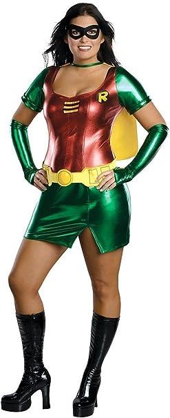 Disfraz de Super Heroina Sexy Robin talla grande - XL: Amazon.es ...