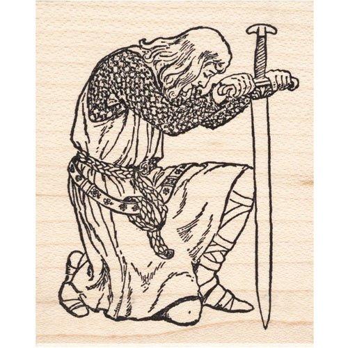 Royal Rubber Stamp - Kneeling Knight Rubber Stamp Large