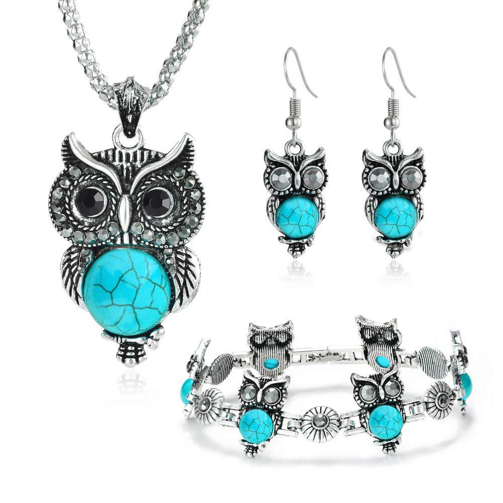 Miraculous Garden Girls Vintage Owl Jewelry Sets
