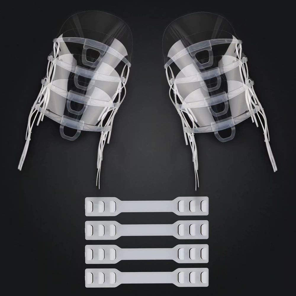 Viseras de Pantalla Transparentes con 4 Piezas de Correa de extensi/ón Ajustable Flexible/… InnooCare 8 Piezas de protecci/ón Facial y bucal