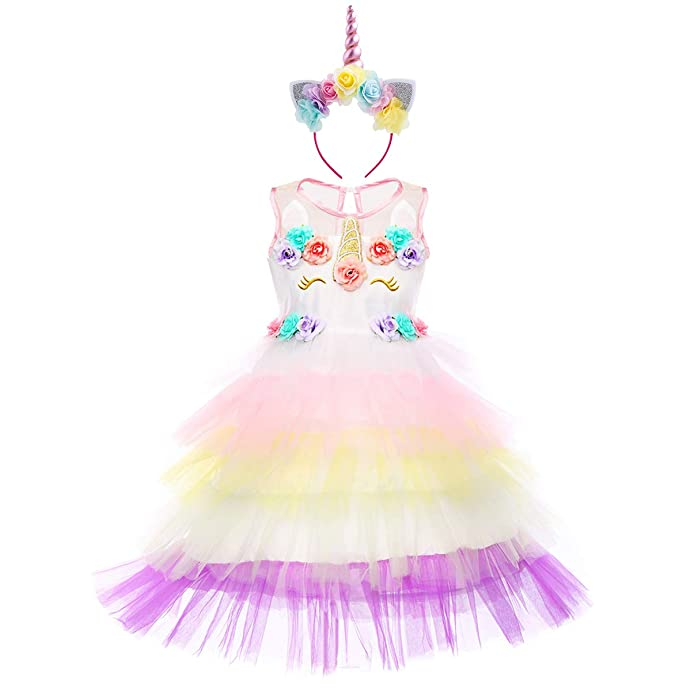 Niña Vestido Princesa Unicornio Disfraz de Verano Cosplay ...