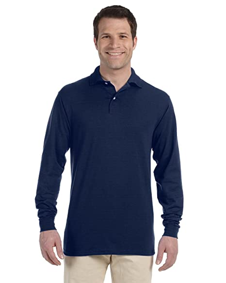 a55d2c5f4c9 Image Unavailable. Image not available for. Color: Jerzees 5.6 oz. 50/50  Long-Sleeve Jersey Polo with SpotShield ...