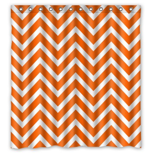 orange chevron shower curtain. Amazon Com  Chevron Shower Curtain Orange White Zigzag Pattern Stripes Custom Fashion Personalized Bathroom Curtains Waterproof Polyester Fabric