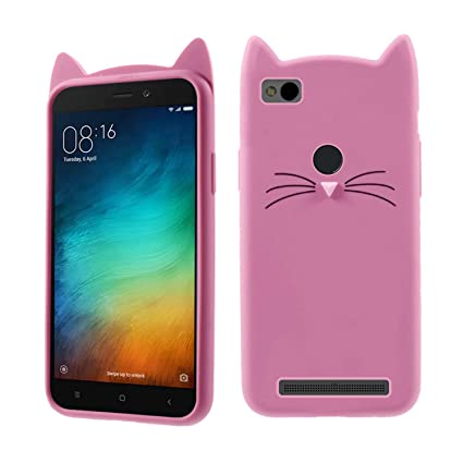 low priced 680d6 5233a Case Creation Mi Redmi 4A Cat Covers,Cute 3D Mustache: Amazon.in ...