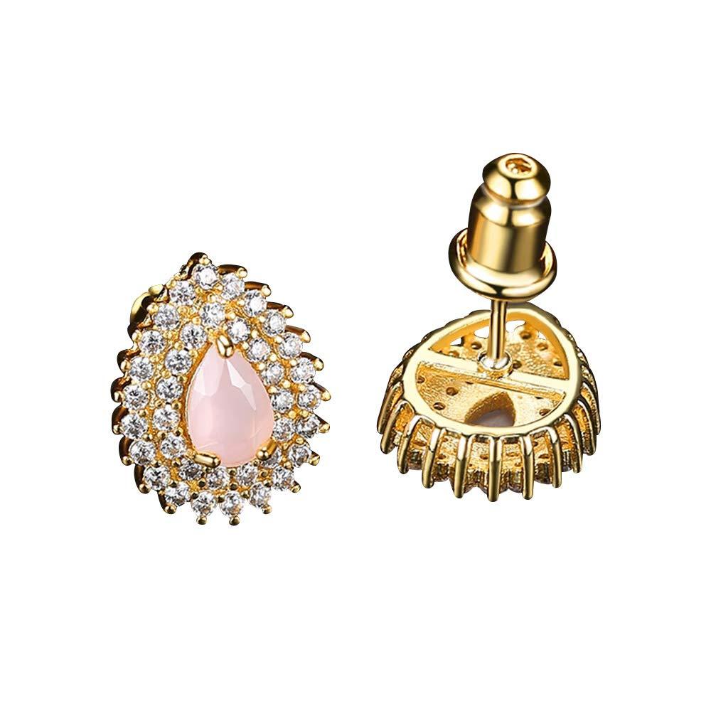 Korean Earings fashion Opal Jewelry Gold Stud Earrings for Women Accessories Studs