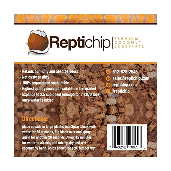 ReptiChip Premium Coconut Reptile Substrate, 72 Quarts, Perfect for Pythons, Boas, Lizards, and Amphibians 5