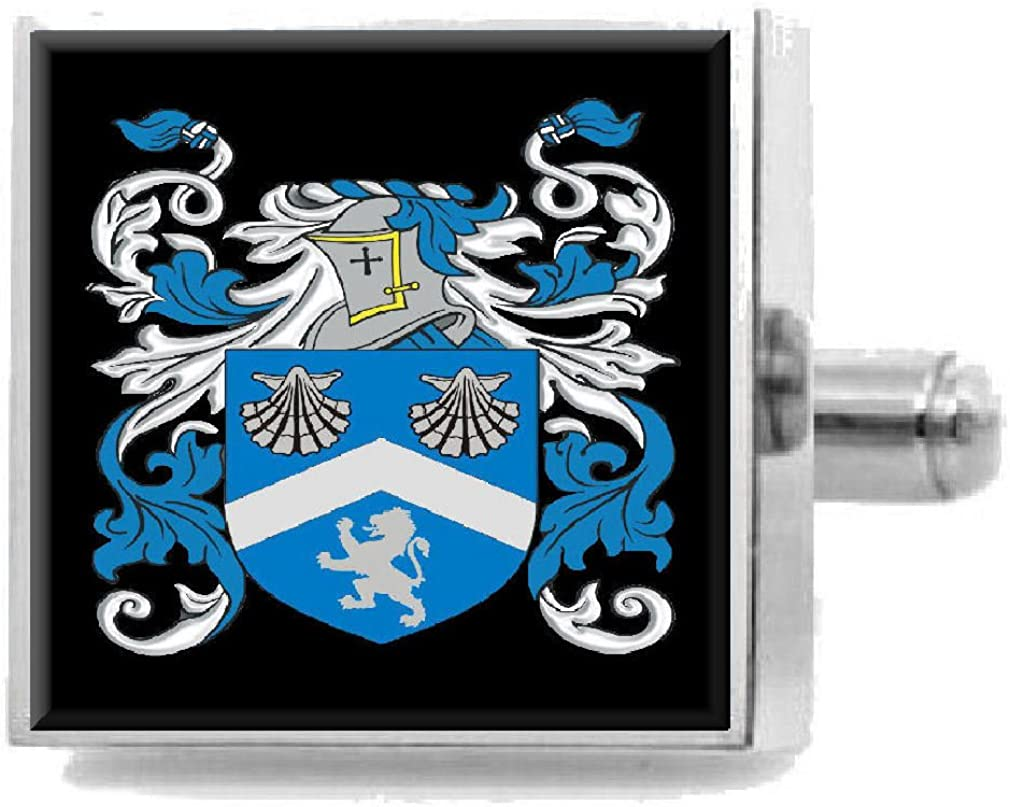 Select Gifts Mcbride Scotland Heraldry Crest Sterling Silver Cufflinks Engraved Message Box