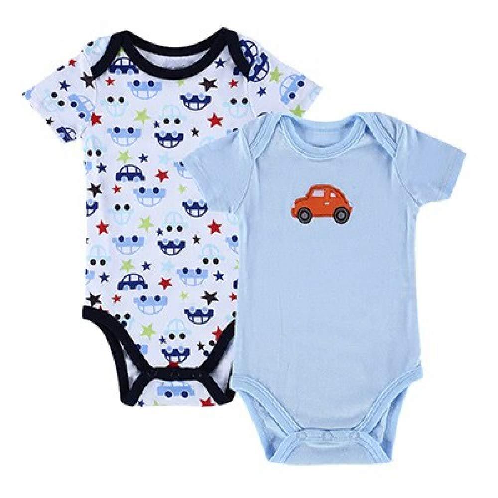 2 PCS//LOT Baby Romper Cartoon Animal 0-12M Jumpsuit Body Suit Baby Clothes