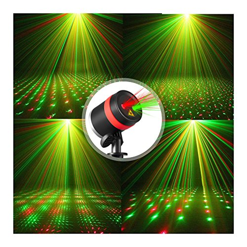 skonyon laser christmas lights show red and green star ip65