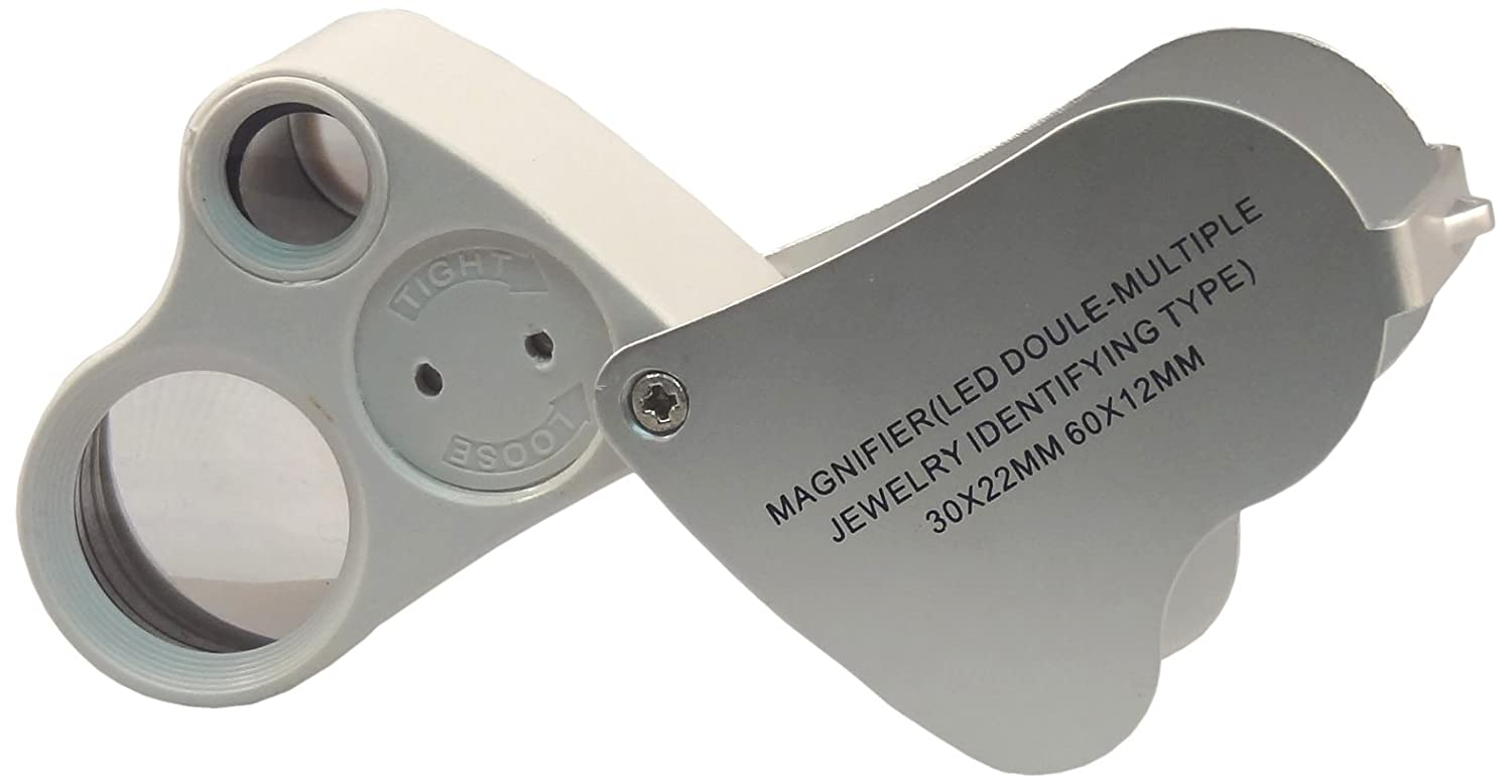 Blue Dot Trading 2 in 1 Jewelers Loupe 30x//60x Magnified Jewlers loupe jewelers-loupe-30x-60x