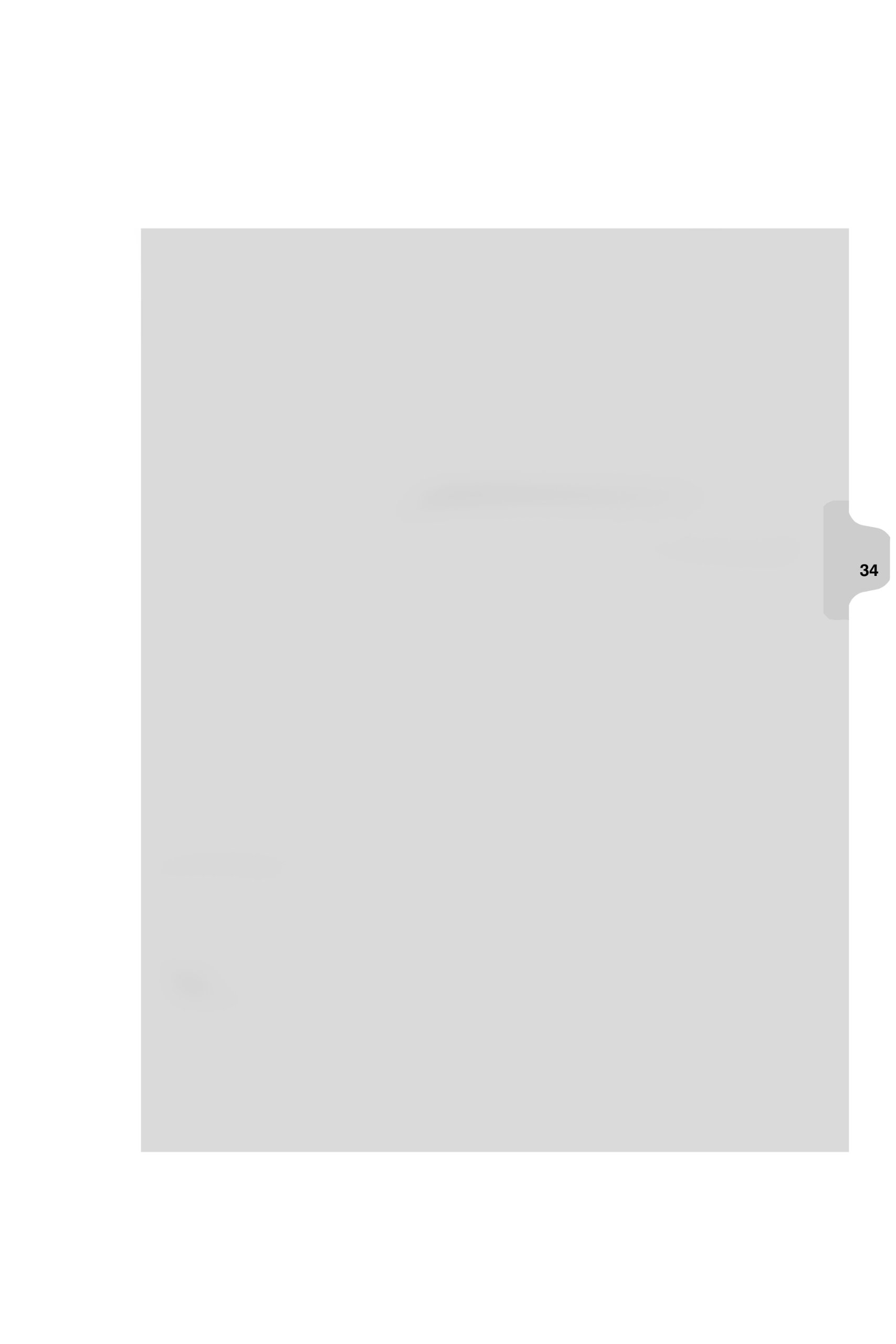 Kleer-Fax Letter Size Individual Number Index Dividers, Side Tab, 1/25th Cut, 25 Sheets per Pack, White, Number 34 (82234)