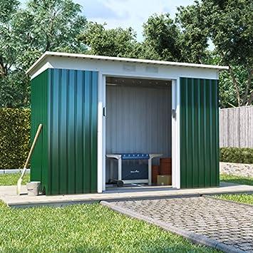 BillyOh Boxer Pent Cobertizo de jardín de metal, acero galvanizado para exteriores, resistente para almacenamiento, con base de acero: Amazon.es: Jardín