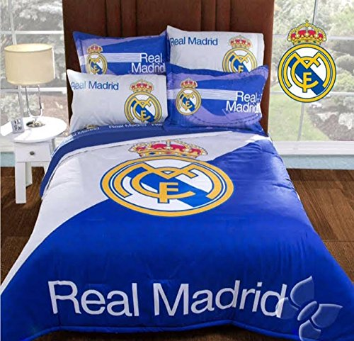 SOCCER SPAIN REAL MADRID ORIGINAL LICENSE TEENS BOYS COMFORTER SET AND SHEET SET 7 PCS FULL SIZE by JORGE'S HOME FASHION INC