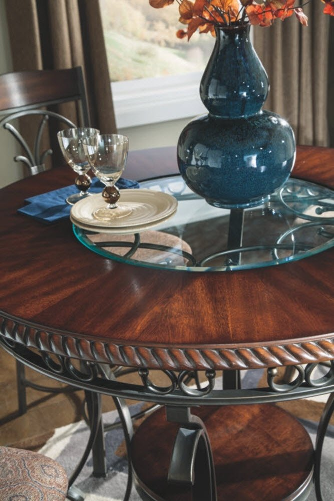 Ashley Furniture Signature Design Glambrey Dining Room Table Counter Height Brown