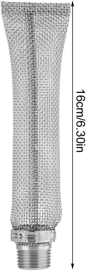 6inch Bi/ère Brew Hop Filtre Passoire Outil pour Bouilloire ou Mash Tun 1//2 Filtre de Bi/ère Grade Maille en Acier Inoxydable 12inch 6 Pouces