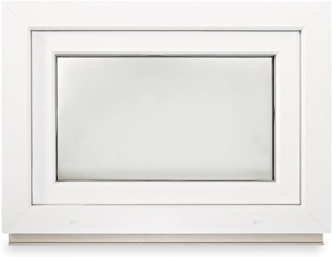 Fenster Kellerfenster Kunststofffenster Breite: 100 cm 2 fach Verglasung Alle Gr/ö/ßen Dreh Kipp Wei/ß BxH: 100x45 cm DIN Links Premium