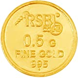 RSBL 0.5 gm, 24KT (995) Yellow Gold Coin