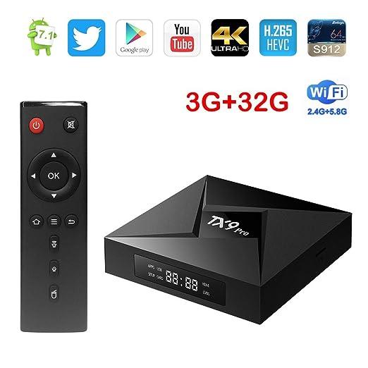 5 opinioni per Greatlizard TX9 Pro Android 7.1 TV Box Smart Octa Core 64 Bit 3GB RAM 32GB ROM