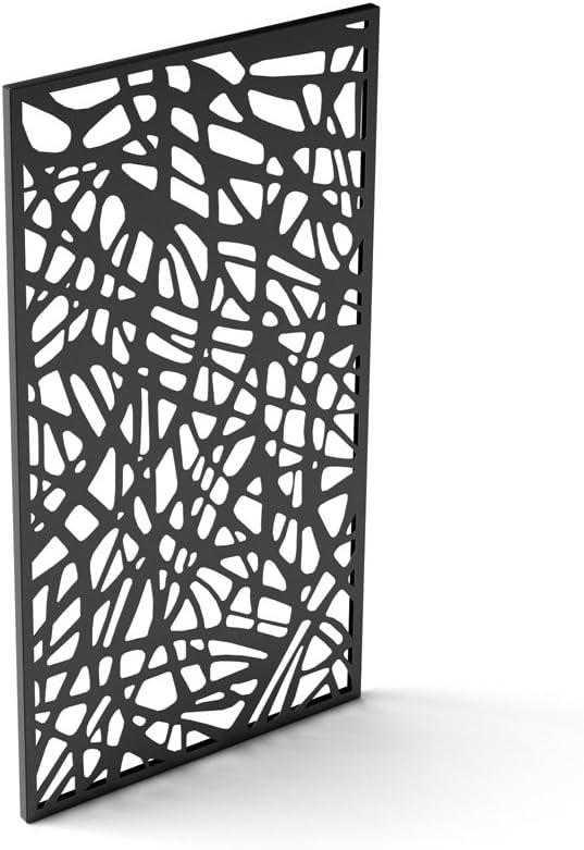 Veradek Web Decorative Outdoor Divider Single Panel, Black