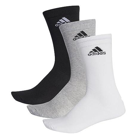 Adidas performance crew lot de 3 paires de chaussettes thin Multicolore Noirgrisblanc, lot de 3