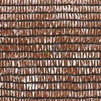 MALLA de SOMBREO OCULTACION MARRÓN para terrazas y jardines (1 x 5 m): Amazon.es: Bricolaje y herramientas