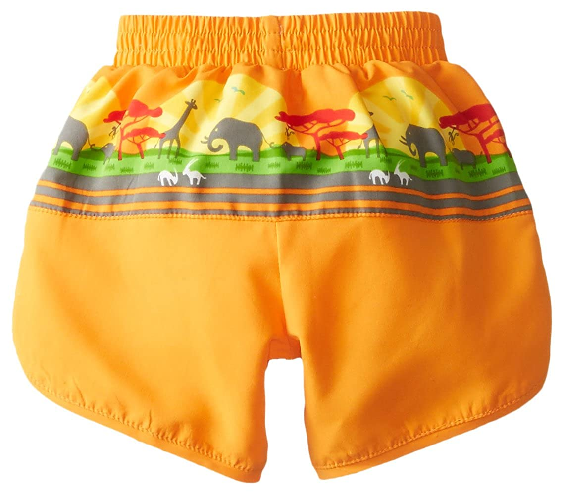 by green sprouts Boys Board Shorts with Built-in Reusable Absorbent Swim Diaper i play