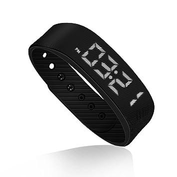 Montre bracelet de fitness, podomètre, utilisation facile, avec montre, compteur de pas, compteur de calories, montre ...