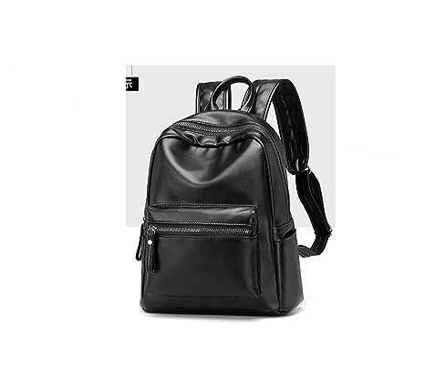 45da29143cf Waterproof shoulder bag female soft leather portable college wind leisure  fashion travel backpack Mummy backpack (
