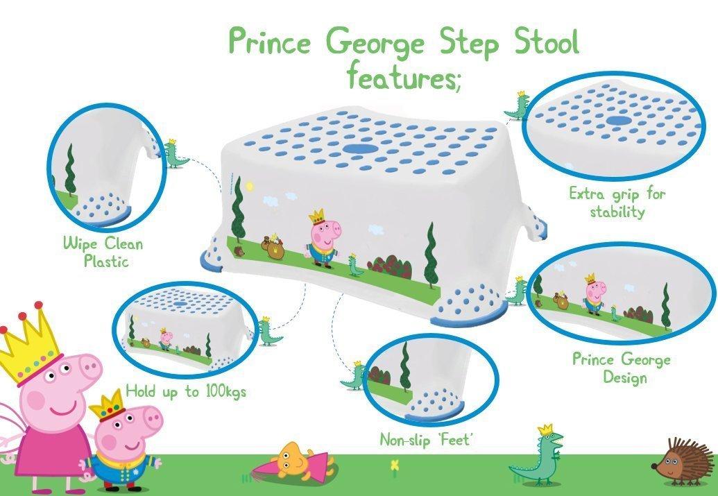 dise/ño de Peppa Pig con imagen de George Taburete antideslizante para inodoro Solutions EU 49563